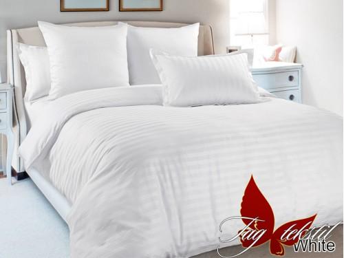 Постельное белье из страйп - сатина  White stripe -001 от TAG tekstil в интернет-магазине PannaTeks