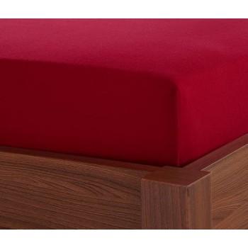 Простынь на резинке + наволочки красная