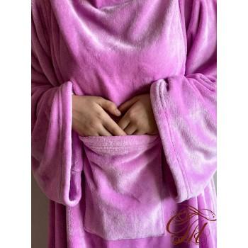 Плед с рукавами Розово-Фиолетовый микрофибра фото 1