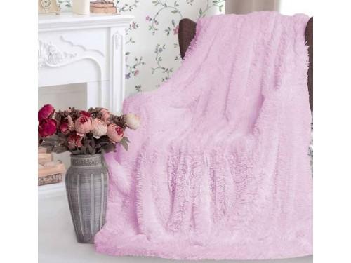 Плед травка с длинным ворсом Светло Розовый облегченный 70012 от Koloco в интернет-магазине PannaTeks