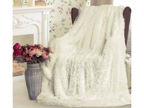 Плед травка с длинным ворсом Молочный облегченный 70015 от Koloco в интернет-магазине PannaTeks
