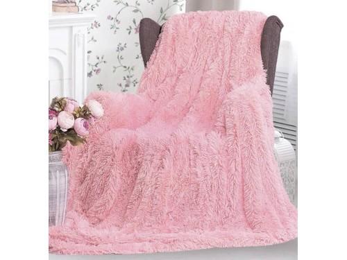 Плед травка с длинным ворсом Мишка Розовый 70025 от Koloco в интернет-магазине PannaTeks