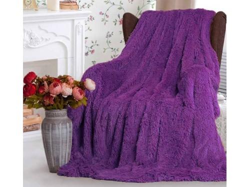 Плед травка Мишка Фиолетовый 70028 от Koloco в интернет-магазине PannaTeks