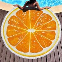Круглое пляжное полотенце Апельсин