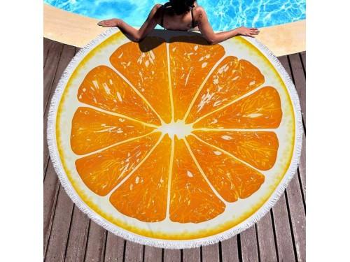 Круглое пляжное полотенце Апельсин 9005 от Colorful Home в интернет-магазине PannaTeks