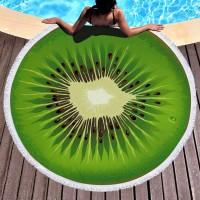 Круглое пляжное полотенце Киви