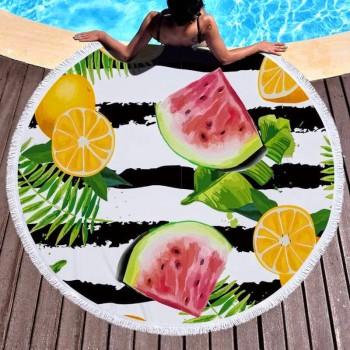Пляжное полотенце круглое Тропико