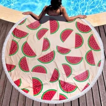 Пляжное полотенце круглое Арбузики
