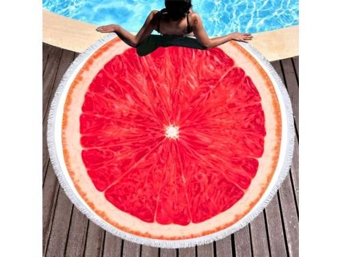 Круглое пляжное полотенце Грейпфрут 9013 от Colorful Home в интернет-магазине PannaTeks