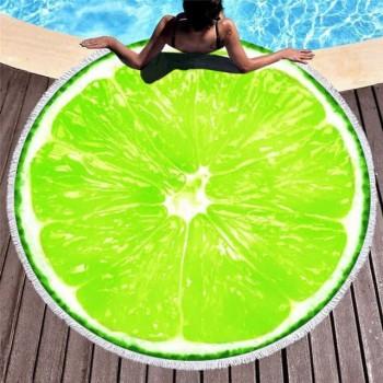 Круглое пляжное полотенце Лайм 9014 от Colorful Home в интернет-магазине PannaTeks