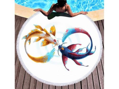 Круглое пляжное полотенце Инь-Янь 9015 от Colorful Home в интернет-магазине PannaTeks