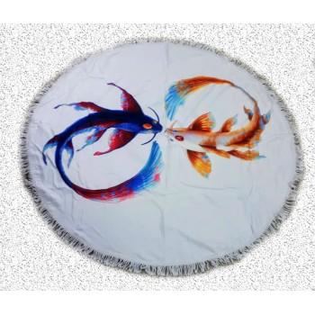 Круглое пляжное полотенце Инь-Янь фото 1
