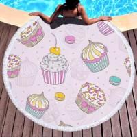 Круглое пляжное полотенце Кексики
