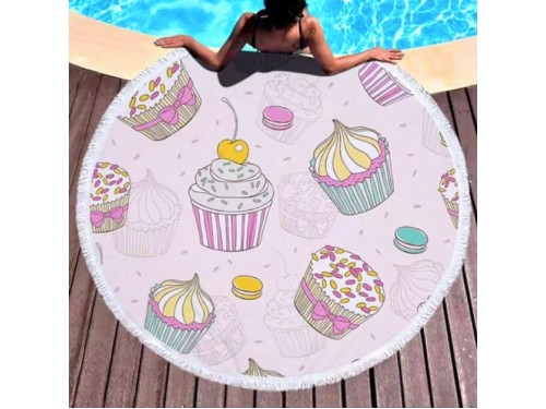 Круглое пляжное полотенце Кексики 9016 от Colorful Home в интернет-магазине PannaTeks