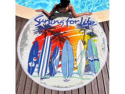 Круглое пляжное полотенце Серфинг 9019 от Colorful Home в интернет-магазине PannaTeks