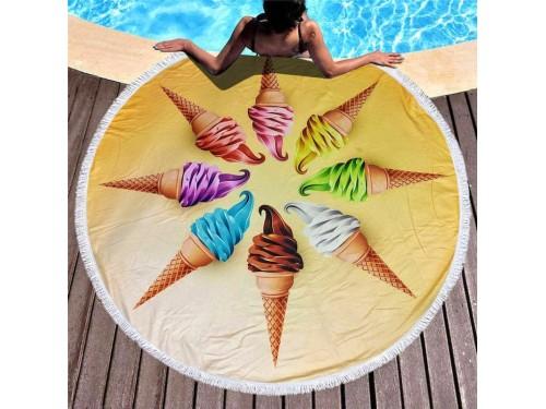Круглое пляжное полотенце Мороженое 9021 от Colorful Home в интернет-магазине PannaTeks