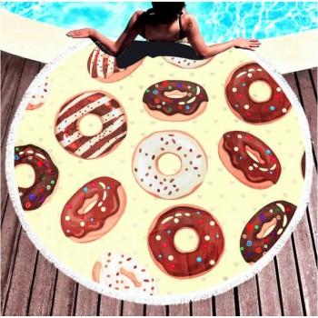 Круглое пляжное полотенце Ароматные Пончики 9024 от Colorful Home в интернет-магазине PannaTeks