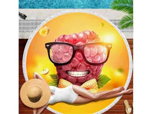 Круглое пляжное полотенце Малина 9025 от Colorful Home в интернет-магазине PannaTeks