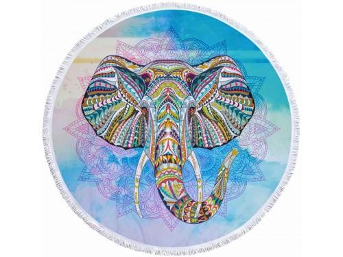 Круглое пляжное полотенце Слон 9026 от Colorful Home в интернет-магазине PannaTeks