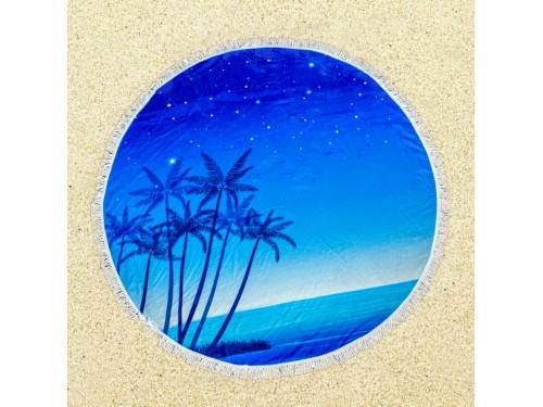 Круглое пляжное полотенце Ночное Море 9028 от Colorful Home в интернет-магазине PannaTeks