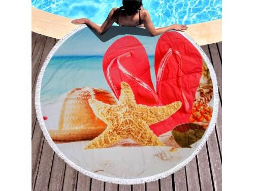 Круглое пляжное полотенце Морская Звезда 9029 от Colorful Home в интернет-магазине PannaTeks