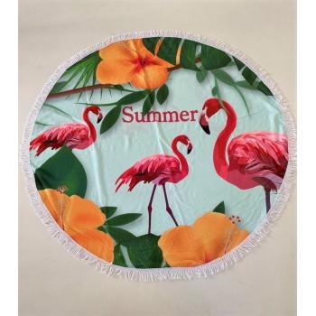 Круглое пляжное полотенце Summer