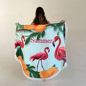 Круглое пляжное полотенце Summer фото 3