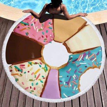 Круглое полотенце для пляжа Пончик Ассорти 9003 от Colorful Home в интернет-магазине PannaTeks