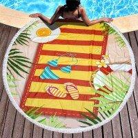Круглое пляжное полотенце Шлепки
