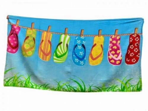 Пляжное полотенце Шлепки 002 от Colorful Home в интернет-магазине PannaTeks