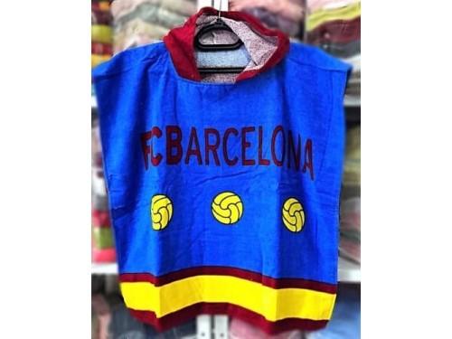 Детское пляжное полотенце с капюшоном FC Barcelona 018 от Merzyka в интернет-магазине PannaTeks