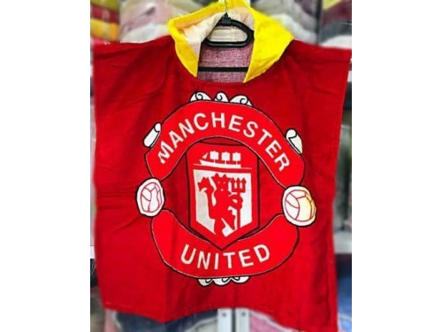 Детское пляжное полотенце с капюшоном Manchester United 020 от Merzyka в интернет-магазине PannaTeks