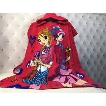 Детское пляжное полотенце пончо Winx (Винкс) фото 2