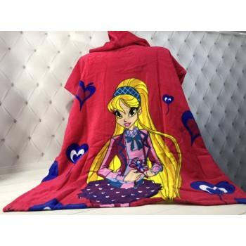 Детское пляжное полотенце пончо Winx (Винкс) фото 3