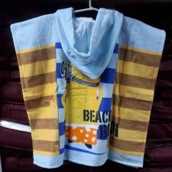 Детское пляжное полотенце с капюшоном Миньоны и Уточка фото 1