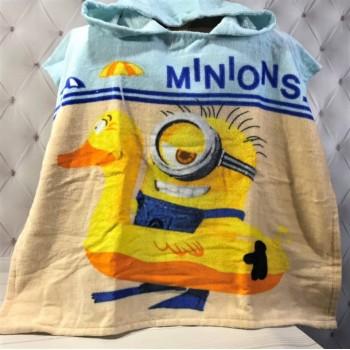 Детское пляжное полотенце с капюшоном Миньоны и Уточка фото 2