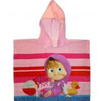 Детское пляжное полотенце пончо Маша