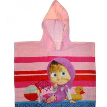 Детское пляжное полотенце пончо Маша 028 от Merzyka в интернет-магазине PannaTeks