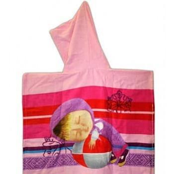 Детское пляжное полотенце пончо Маша фото 1