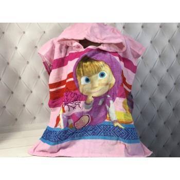Детское пляжное полотенце пончо Маша фото 2