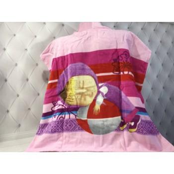 Детское пляжное полотенце пончо Маша фото 3