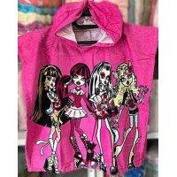 Детское пляжное полотенце пончо Monster High(Монстер Хай)