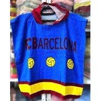 Детское пляжное полотенце с капюшоном FC Barcelona