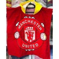 Детское пляжное полотенце с капюшоном Manchester United