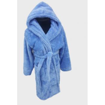 Халат махровый детский Wellsoft голубой