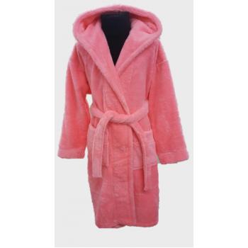 Халат махровый детский Wellsoft, ярко розовый