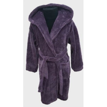 Халат махровый детский Wellsoft фиолетовый