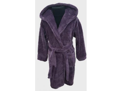 Детский халат с капюшоном велсофт фиолетовый, Турция 13666 от Zeron в интернет-магазине PannaTeks