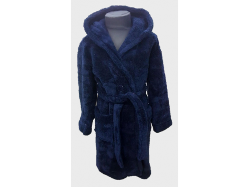 Детский халат для мальчика с капюшоном темно-синий, Турция 13668 от Zeron в интернет-магазине PannaTeks
