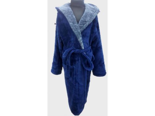 Детский халат для мальчика с капюшоном синий с серым, Турция 13672 от Zeron в интернет-магазине PannaTeks